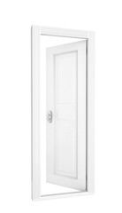 white open, door isolated