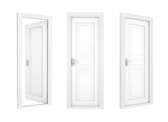 collection of doors isolated on a white background. 3d illustration