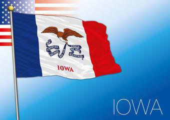Iowa federal state flag, United States