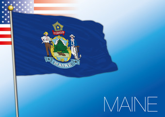 Maine federal state flag, United States