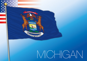 Michigan federal state flag, United States