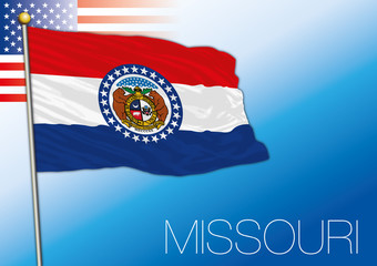 Missouri federal state flag, United States