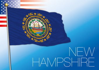 New Hampshire federal state flag, United States