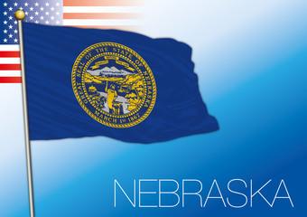 Nebraska federal state flag, United States