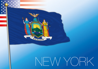 New York federal state flag, United States
