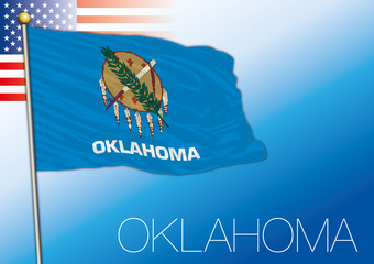 Oklahoma federal state flag, United States