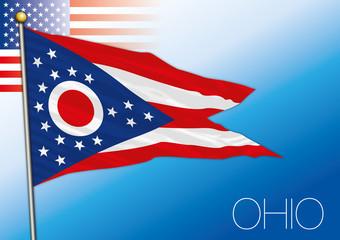 Ohio federal state flag, United States