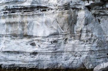 Layered surface of rock wall