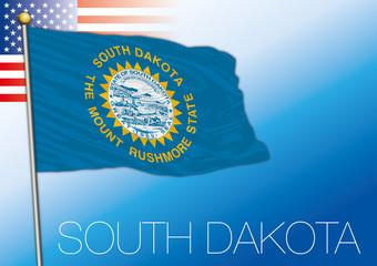 South Dakota federal state flag, United States