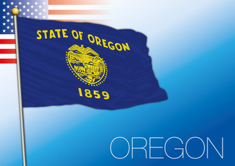 Oregon federal state flag, United States