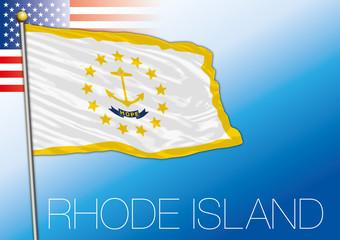 Rhode Island federal state flag, United States