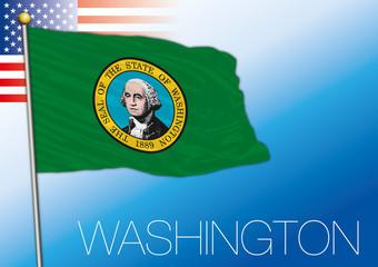 Washington federal state flag, United States