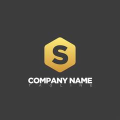 s modern letter logo template