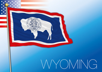 Wyoming federal state flag, United States