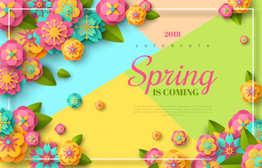 Spring sale flyer Wall mural