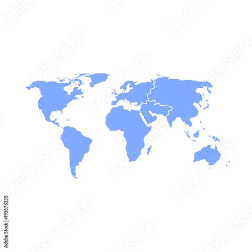 Blue silhouette isolated world map stock image and royalty free blue silhouette isolated world map gumiabroncs Image collections