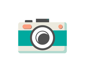 Photo Camera of Green Color Vector Illustration