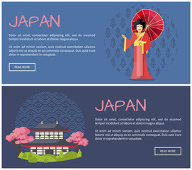 Japan Promotional Internet Pages Templates Set