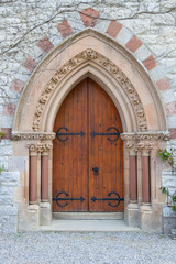Old Gothic Arched Door