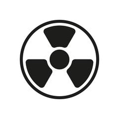 hazard, radiation. simple silhouette