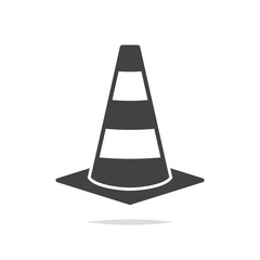 Traffic cone icon vector isolated
