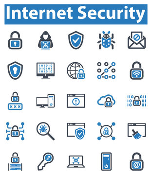 Internet Security Icon Set - 1 (Blue Series)