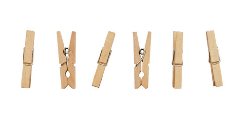 Set of decorative clothespins Wall mural