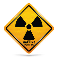 Radioactive sign on white background, Attracting attention,Compulsory, Control ,practice, Security first sign, Idea for graphic,web design,EPS10.
