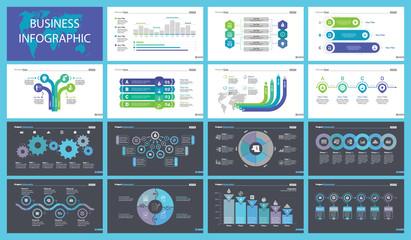 Training Charts Slide Templates Set