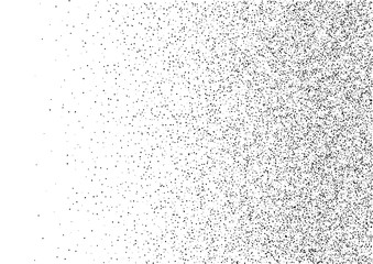 Abstract gradient halftone random dots background. A4 paper size, vector illustration, bw backdrop using halftone circle dots raster pattern texture. Vector illustration Wall mural