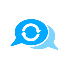 Arrows bubble chat message refresh sync icon