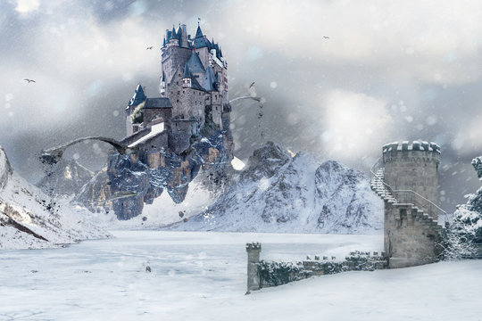 A flying Castle in Icy Northland