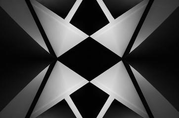 Urban Symmetry Background Black and White