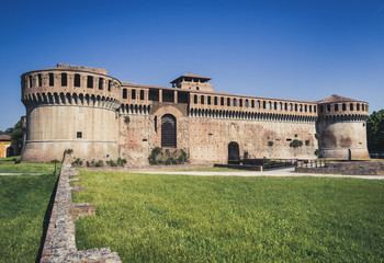 Imola. The medieval Rocca Sforzesca. Bologna province. Italy