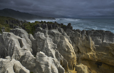 New Zealand, South Island, Westcoast, Punakaiki, Pancake Rocks