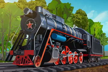 Wall Mural - Vintage train