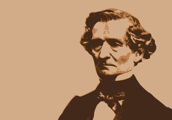 Berlioz - musicien - portrait - personnage célèbre -musique - personnage - musique classique