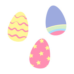Colorful Easter Egg Design Vector Set