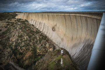 Sequía , embalses de agua Zamora España
