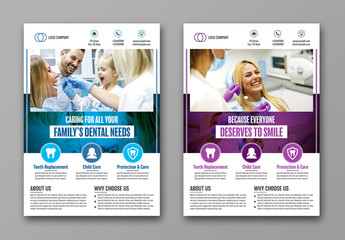 Dental Office Flyer Layout 1