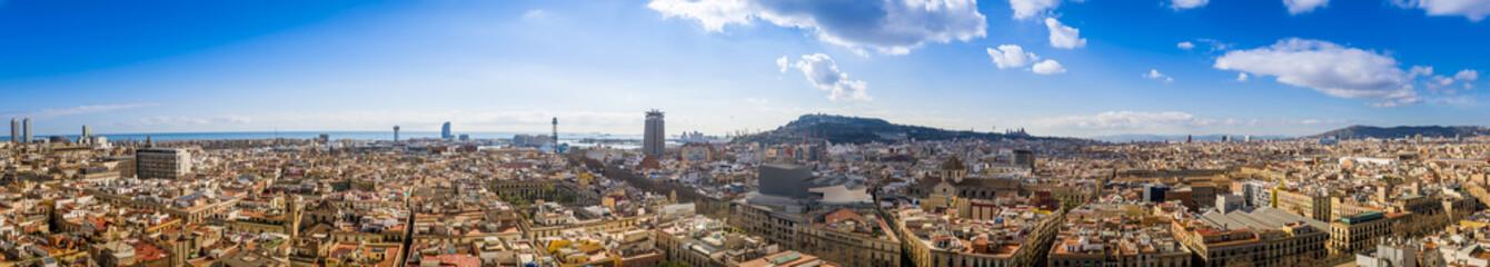 Panorama de Barcelone en Catalogne, Espagne