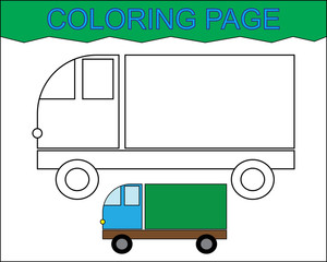 Coloring page. Estate car, transport. Activity for children.