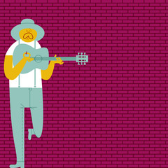 THE BLUESMAN SINGING IN A ALLEY.