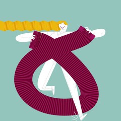 ACORDEONIST GIRL. Pirouette style.