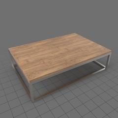 Modern wood table