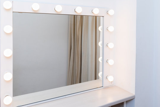 Mirror with light in the dressing room