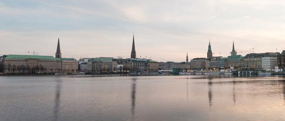Foto op Plexiglas Panoramafoto s Hamburg - Binnenalster - 2016