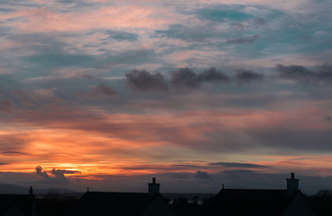 Dramatic February Sky Over largs Rooktops