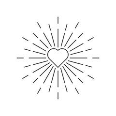 loveburst vector icon