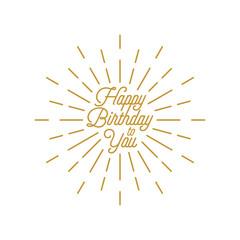 happy birthday burst vector icon2